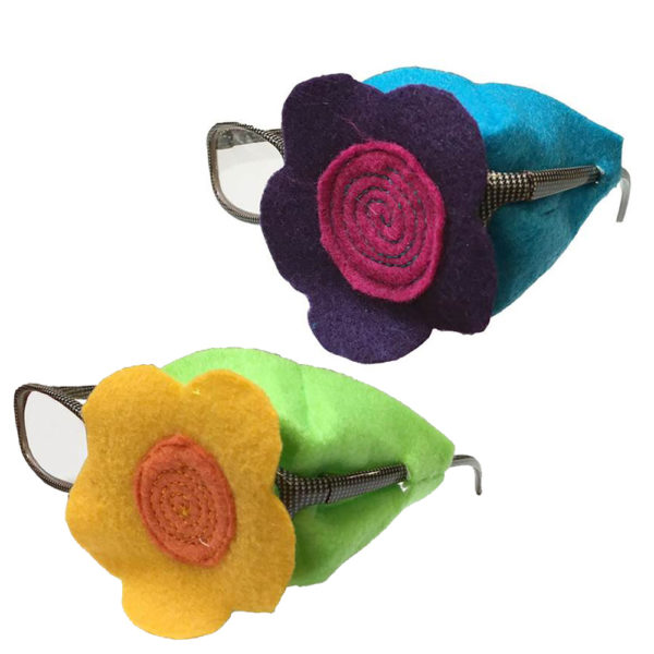 Over-the-lens flower eye patch