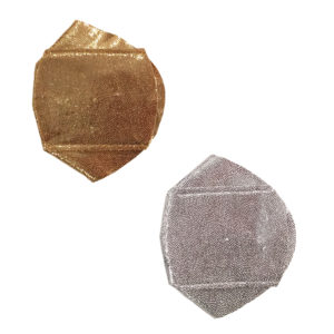 Gold or silver shiny over-the-lens eye patch